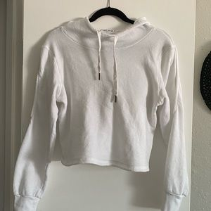 Super soft and cozy crop white hoodie